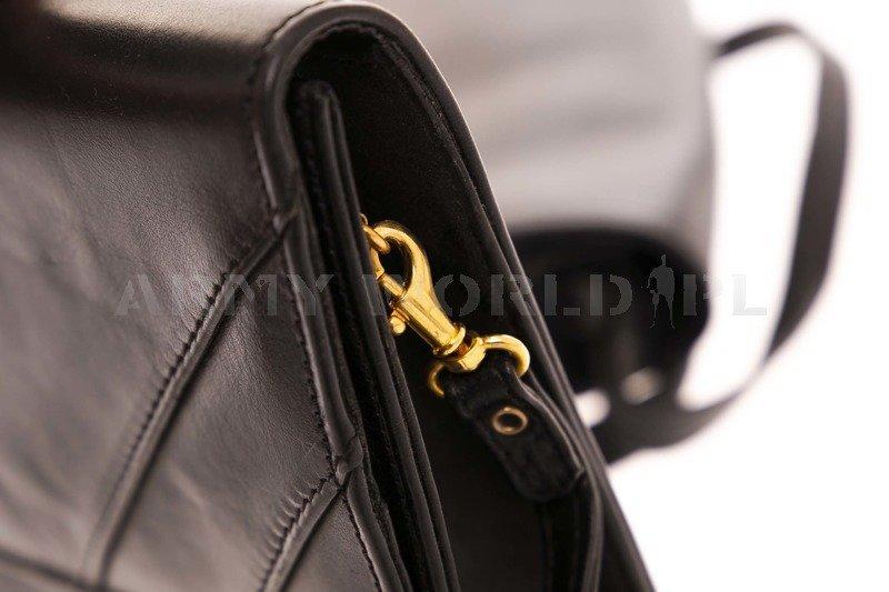 British Army Leather Women's Clutch Bag Black Genuine Military