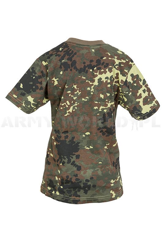cildrens t shirt flecktarn military t shirt short sleeves. Black Bedroom Furniture Sets. Home Design Ideas