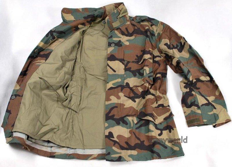 Military Field Jacket Model M65 Woodland Nyco Mil-Tec TESSAR.INC ... ea5a5b63557