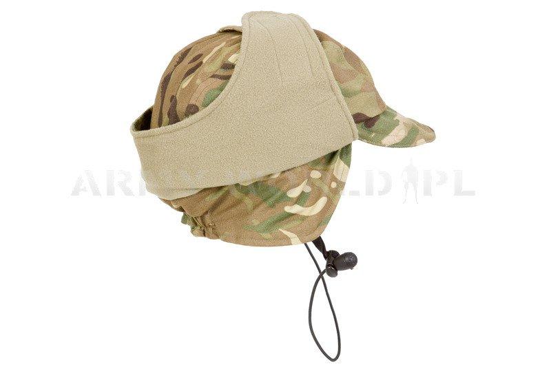 ... Military Waterproof British Ushanka Cap Cold Weather Goretex MTP Used  ... f4f0f0d0e9f
