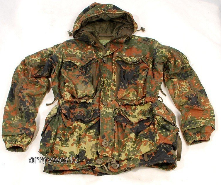 a444dd72b2c17 Special Forces Jacket Smock KSK Bundeswehr Flecktarn Original Military  Surplus Used ...