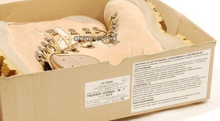 Polish Military Desert Boots M7 DEMAR Original - Demobil - SecondHand