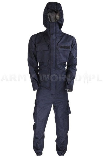 British Police Waterproof Coveralls Remploy Navy blue Original Used