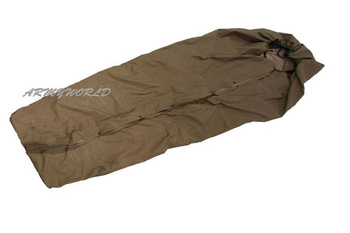 Case For Sleeping Bag Gore-Tex With Zipper Military Danish Original Oliv Demobil