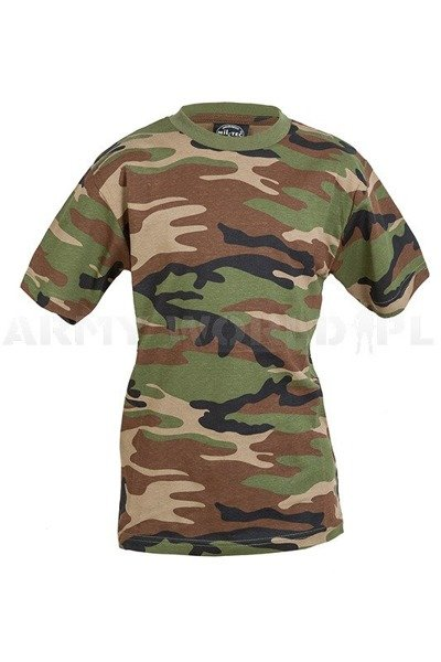Children's T-shirt Woodland Military T-shirt wirh short sleeves Mil-tec New