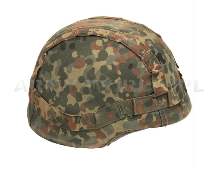 Cover For Kevlar Type Helmet Bundeswehr Flecktarn Reversible Original Demobil