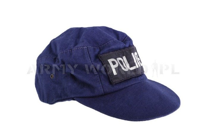 Police Patrol Cap Navy Blue Genuine Used