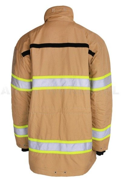 Dutch Firefighter's Jacket Flame-Retardant Khaki Genuine New