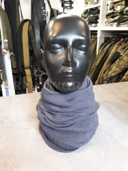 Face Veil / Sleeve / Half Balaclava Polish Army Grey Original Used