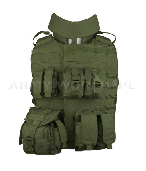 OTV Outer Tactical Vest Mil-tec Olive New Ex-Display