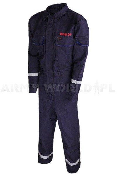 Flame-retardant Coveralls Rofa WTD 91 Navy Blue Genuine Military Surplus New