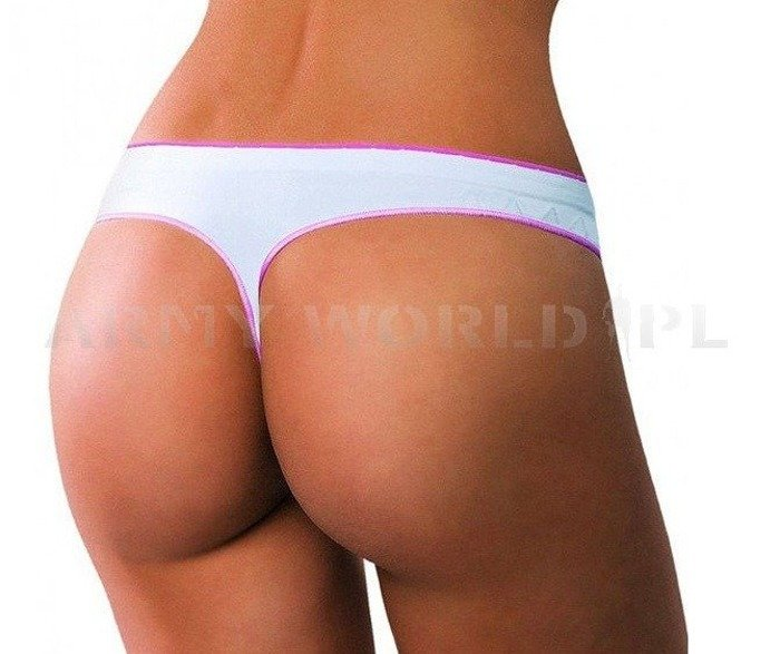 Ladies String Thong Feel Brubeck White/Pink SALE