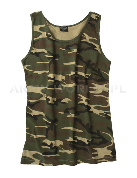 Men's Tank Top Mil-tec Woodland New