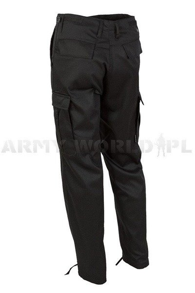 Military Cargo Pants Ranger Type BDU Black NEW