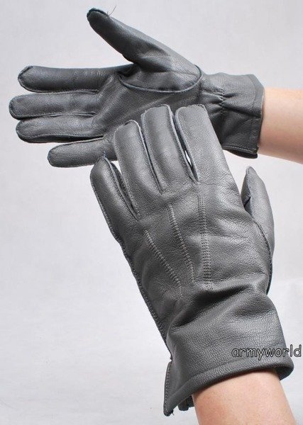 Military Dutch Leather Gloves Grey M3 Used