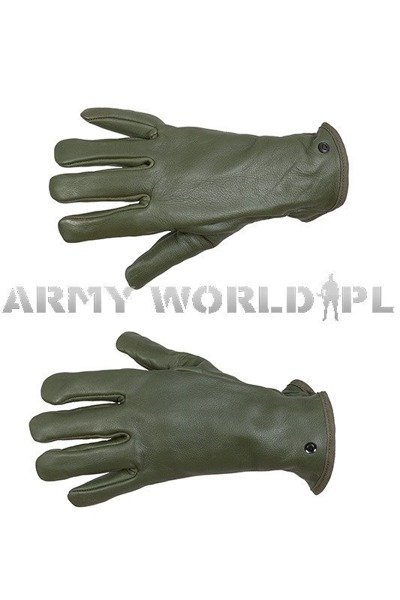 Military Dutch Leather Gloves Procoves Oliv Original Odd Used