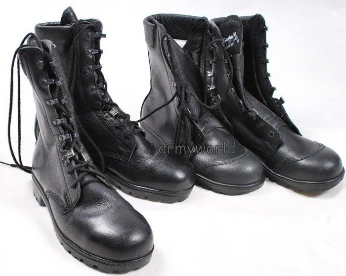 Military Leather Shoes GERBA S3 With Metal Tips - Unused II Quality