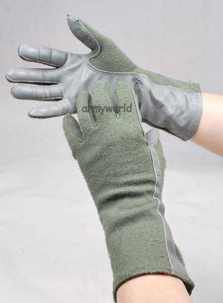 Military Pilot's Gloves Nomex US Army Used Very Good Condition