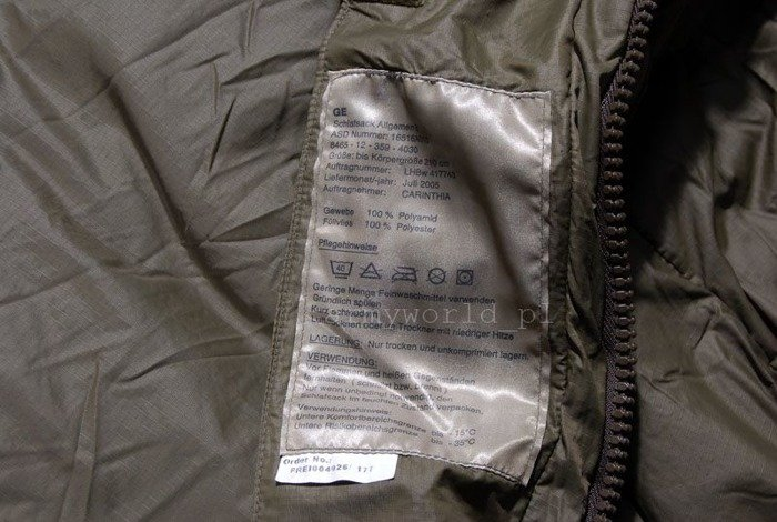 Military Sleeping Bag Bundeswehr Carinthia To -35 degrees Special Forces KSK Original Demobil