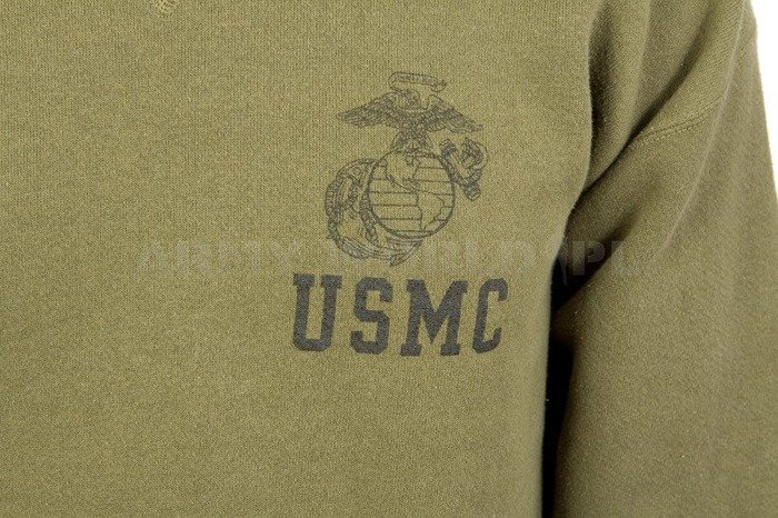 Military Sport Blouse With A Sticker USMC Olive Used