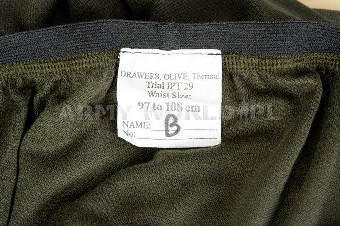 Military Thermal Drawers British Army Olive Used