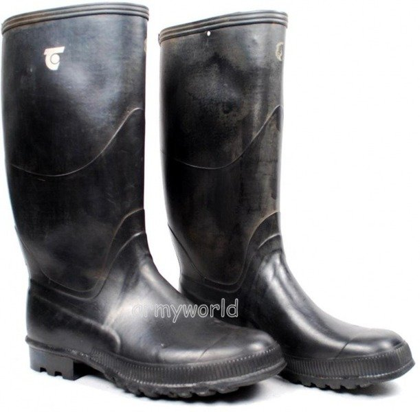 Military Wellington Boots Black Original New