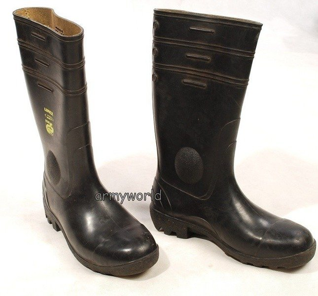 Military Wellington Boots LIMEX With Metal Tips Black Original Demobil
