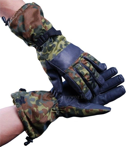 Military Winter Gloves Gore-tex Flecktarn Bundeswehr Warmed Demobil