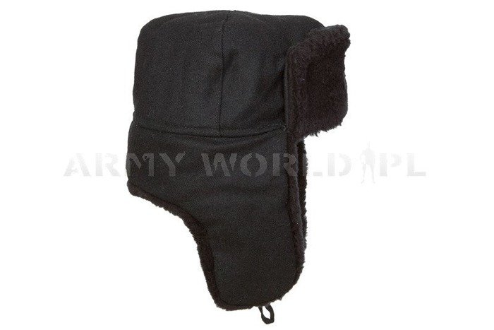 Polish Military Navy Officer Winter Cap Ushanka Cap With Indication Oryginal New