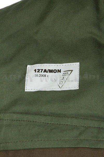 Polish Military Shirt Wz.93 127A/MON Original - Demobil - SecondHand