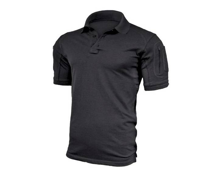 Polo Shirt Elite Pro Texar Black New