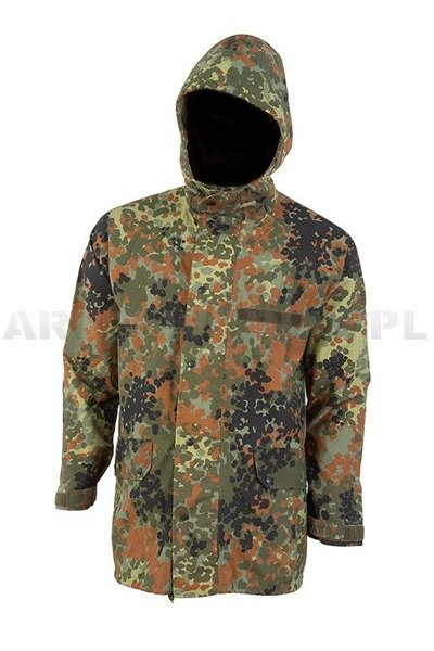 Rainproof Jacket  Gore-Tex Flecktarn Bundeswehr Original Used