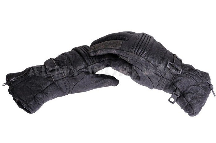 Winter Leather Gloves Thinsulate Black Original Used
