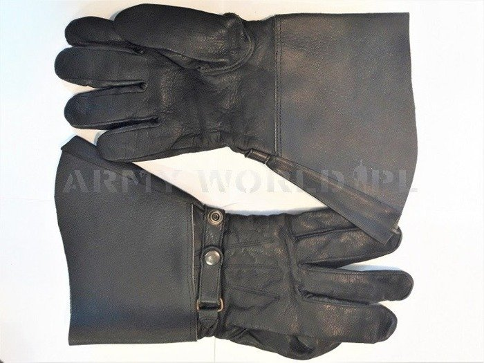 Military Motorcycle Leather Gloves Black Military Surplus Used