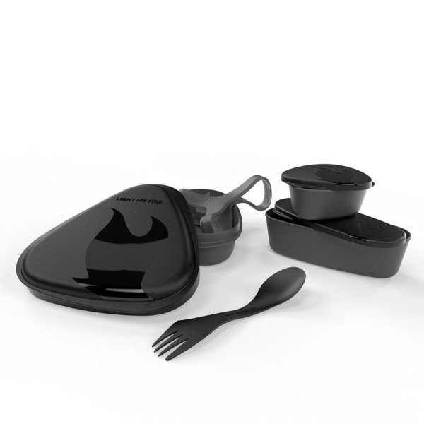 SET OF CONTAINERS LunchKit Light My Fire BLACK NEW