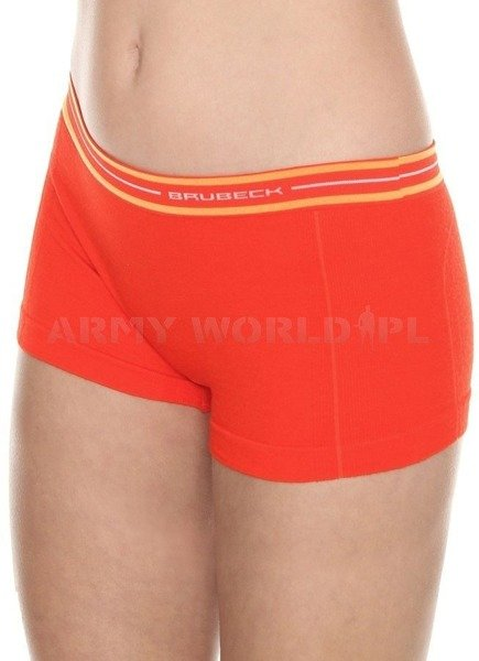 Sport Boxer Shorts ACTIVE WOOL Women's BRUBECK Brick Red New