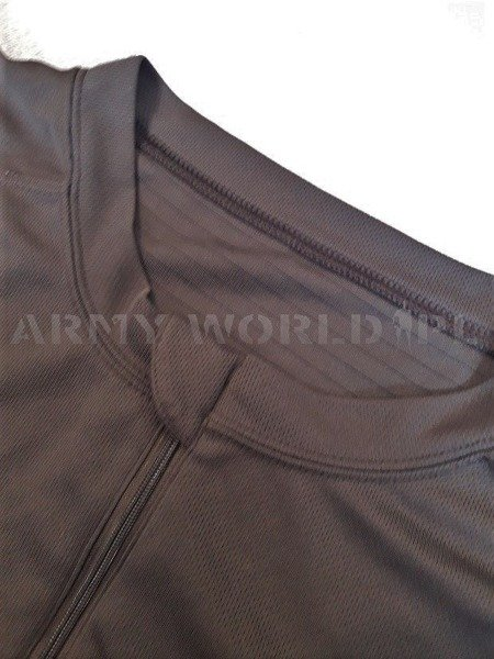 British Army Thermoactive T-shirt Coolmax With Zipper Brown Original Used