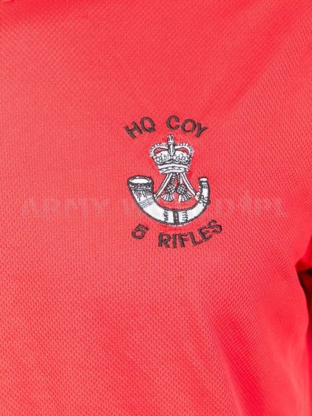 Thermoactive T-shirt Coolmax With Badge Rifles Red Original Used