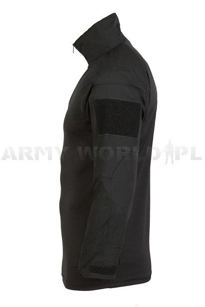 Tactical Shirt To Wear With Tactical Vest Black Ripstop Mil-tec New