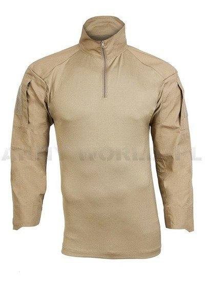Tactical Shirt To Wear With Tactical Vest  Coyote Ripstop Mil-tec New