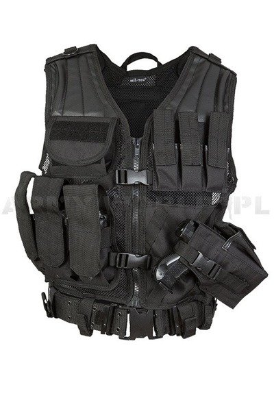 Tactical Vest USMC with handgun holster and with LC2 belt Black New