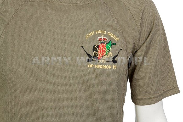 Thermoactive T-shirt Coolmax With Badge Joint Fires Group Olive Used