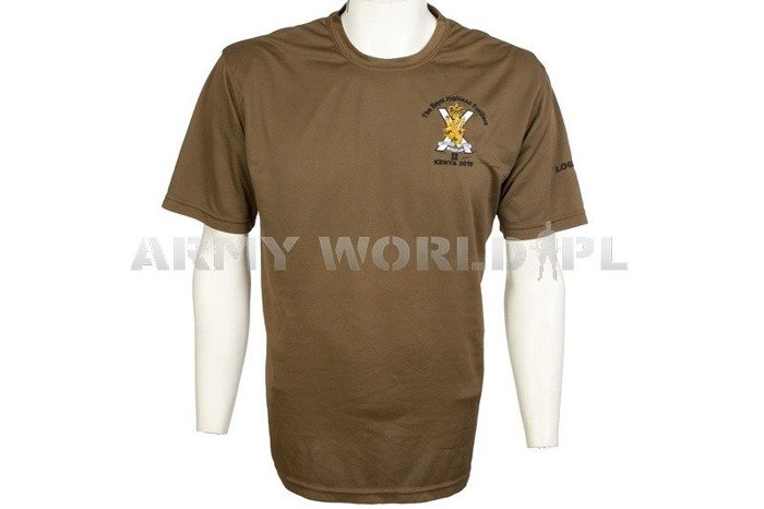 Thermoactive T-shirt Coolmax With Badge Kenya 2015 Brown Used