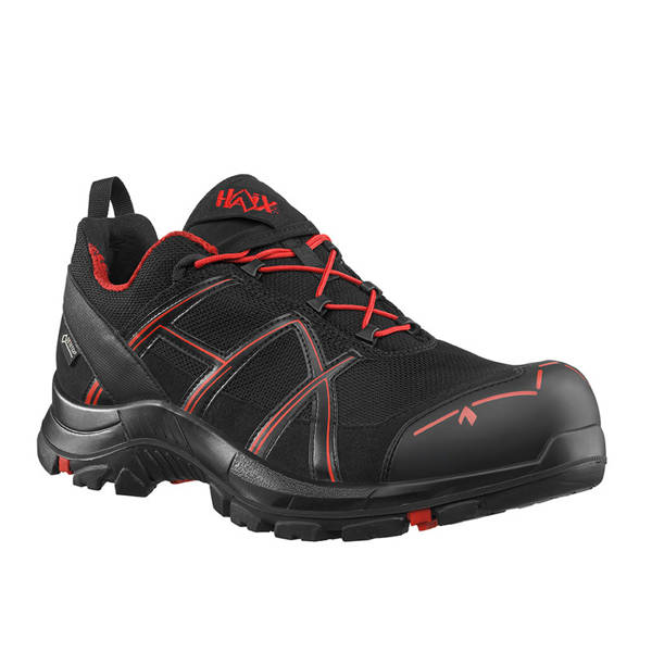 Workwear Boots Haix ® BLACK EAGLE Safety 40 Low Gore-tex  Black/Red New