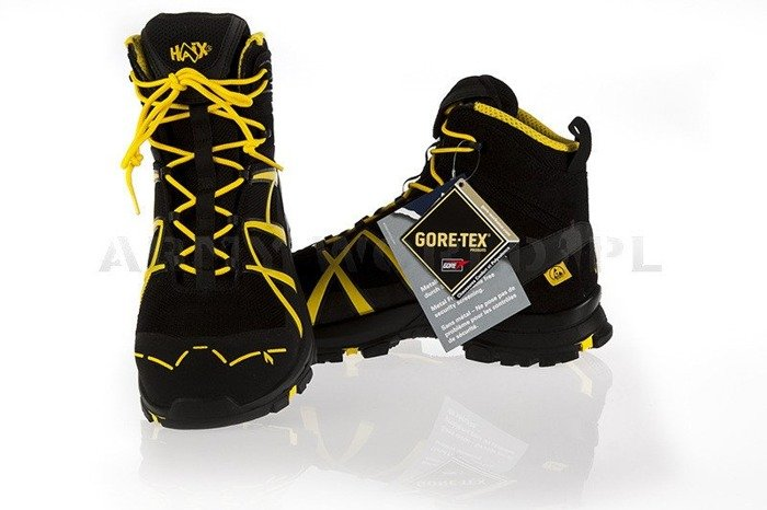 Workwear Boots Haix ® BLACK EAGLE Safety 40 Mid Gore-tex  Black/Yellow New
