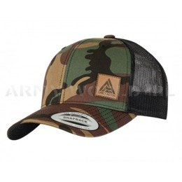 Czapka Retro Trucker Cap Direct Action  Woodland/ Czarna