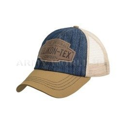 Czapka Trucker Logo Cap -  Denim - Dark Blue / Beżowa - Helikon-Tex