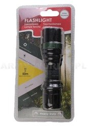 Latarka Heavy Duty Flashlight Czarna 80 lm