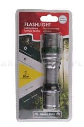 Latarka Heavy Duty Flashlight Srebrna 80 lm