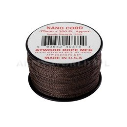 Linka Nano Cord (300ft) Atwood Rope MFG U.S. Brown Nowa